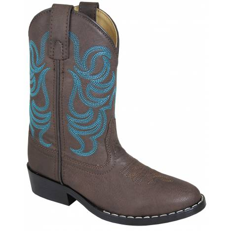 Smoky Mountain Monterey Boots - Childrens - Brown/Blue