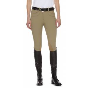 Ariat Olympia Lowrise Front Zip Knee Patch Breeches - Ladies