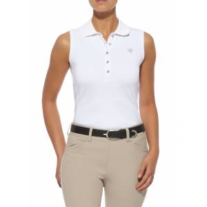 Ariat Prix Sleeveless Polo - Ladies, White