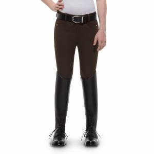 Ariat Heritage Breeches - Kids, Knee Patch, Espresso