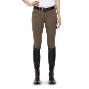 Ariat Olympia Marquis Breeches - Ladies, Knee Patch, Barnwood