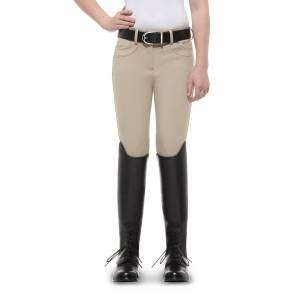 Ariat  Girls Knee Patch Olympia Breeches -Tan