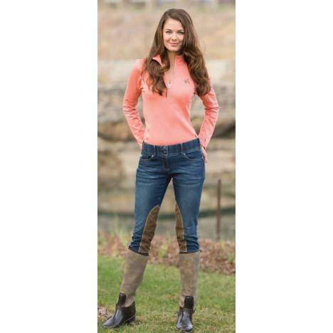 Goode Rider Equestrian Knee Patch Jeans - Ladies