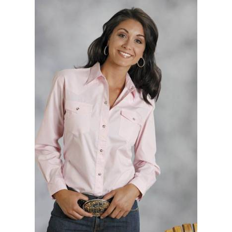 Roper Poplin Shirt - Ladies, Long Sleeve, Pink
