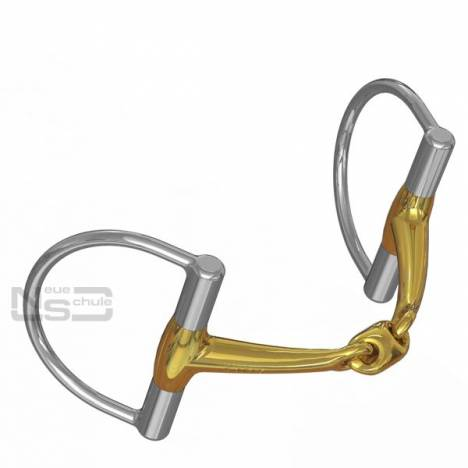 Neue Schule Tranz Angled Lozenge D Ring Snaffle - 14mm