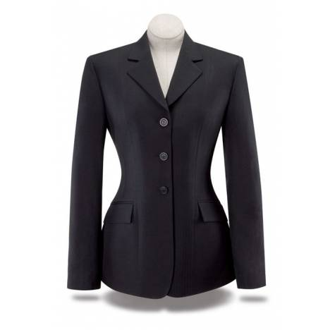 RJ Classics Essential Washable Show Coat - Girls, Black Herringbone