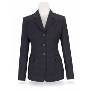 RJ Classics Prestige Show Coat - Ladies, Navy Plaid