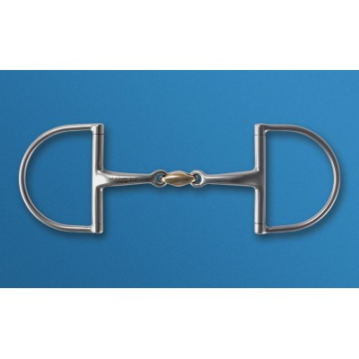 Stubben Steeltec D-Ring Snaffle with Copper Mouthpiece