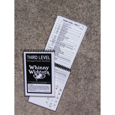Whinny Widgets 2015 Dressage Test Book - 3rd Level