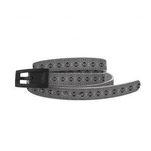 C4 Belt Skinny Mosaic Black Belt with Black Buckle Combo