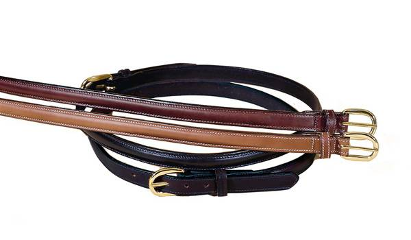 Tory Leather 3 4 Raised Leather Belt With Sewn Buckle