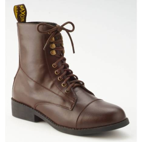 Saxon Ladies Synthetic Equileather Lace Paddock Boots