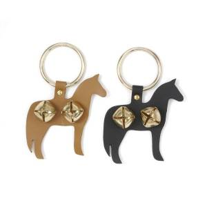 Gift Corral Leather Horse Door Knocker with Brass Bells