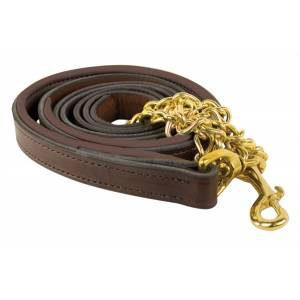 Perris Soft Padded Leather Lead with Custom Nameplate