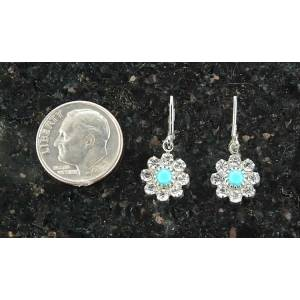Finishing Touch Flower Shaped Swarovski Crystal & Turquoise Earrings - Euro Wire