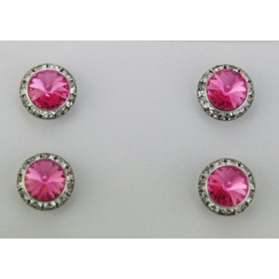 Finishing Touch Magnetic Tack Pin - Pink Stone