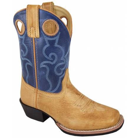 Smoky Mountain Clint Boots - Youth - Tan/Blue