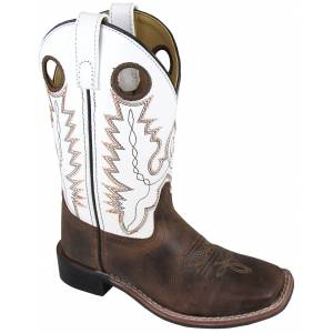 Smoky Mountain Jesse Boots - Children's - Brown/White