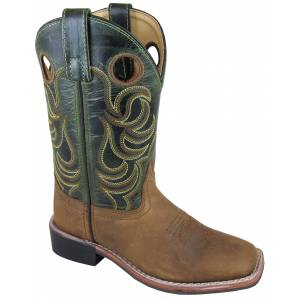 Smoky Mountain Jesse Boots - Children's - Brown/Dark Green