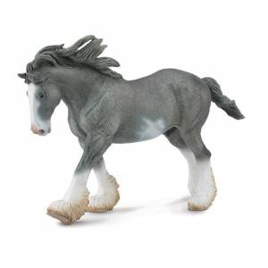 Breyer by CollectA - Black Sabino Clydesdale Stallion
