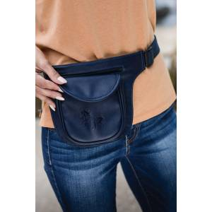 Kelley Two Pocket Fanny Pack - Debossed Gallop Horse