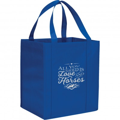 Kelley Reusable Grocery Tote - All You Need is Love & Horses