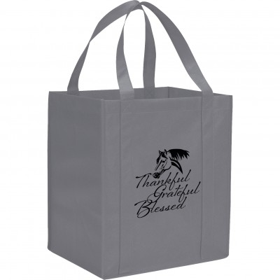 Kelley Reusable Grocery Tote - Thankful Grateful Blessed