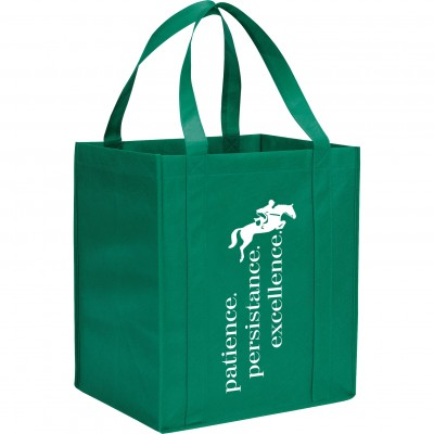 Kelley Reusable Grocery Tote - Patience Persistence Excellence