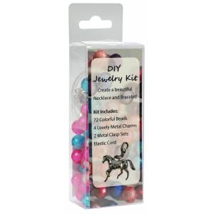 DIY Horse Charm & Bead Bracelet and Necklace Kit