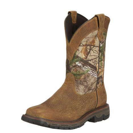 Ariat Mens Conquest Pull-On Waterproof Hunting Boots