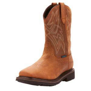 Ariat Mens Everett Square Toe Waterproof Work Boots