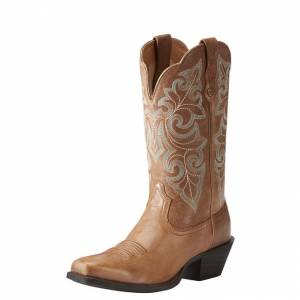 Ariat Ladies Round Up Square Toe Western Boots