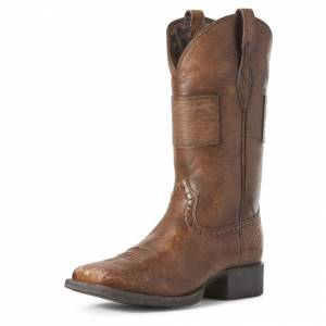 Ariat Ladies Round Up Patriot Western Boots