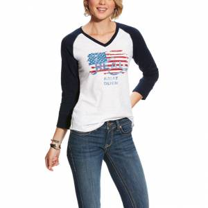 Ariat Ladies REAL Flag Tee
