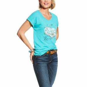 Ariat Ladies USA Map Tee Shirt