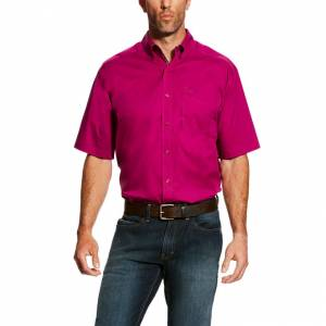 Ariat Mens Solid Short Sleeve Stretch Poplin Shirt