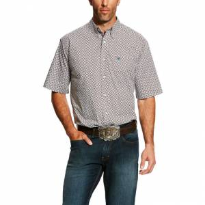 Ariat Mens Harcus Short Sleeve Print Shirt