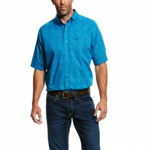 Ariat Mens Noel Short Sleeve Stretch Print Shirt