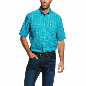 Ariat Mens Wrinkle Free Donnelly Print Shirt