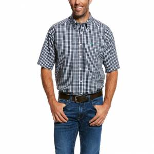 Ariat Mens Wrinkle Free Panneton Short Sleeve Shirt