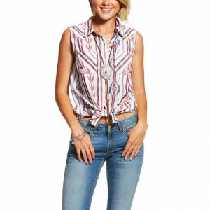 Ariat Ladies Sleeveless Aztec Shirt