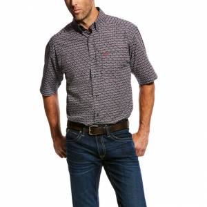 Ariat Mens Miers Short Sleeve Print Shirt