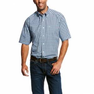 Ariat Mens Milos Short Sleeve Stretch Performance Shirt