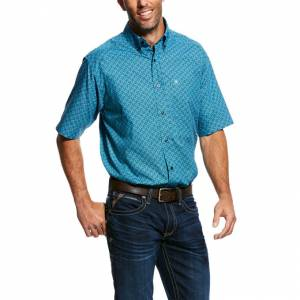 Ariat Mens Mobus Short Sleeve Print Shirt