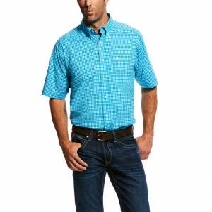 Ariat Mens Natson Ss Stretch Performance Shirt