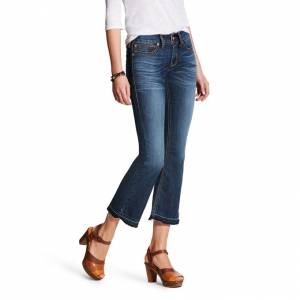 Ariat Ladies REAL Mid Rise Ella Cropped Boot Cut Jeans