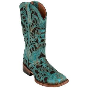Ferrini Ladies Horseshoe Square Toe Western Boots