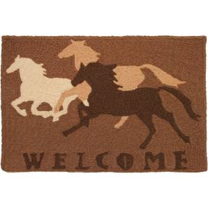 Jellybean Welcome Horses Accent Rug
