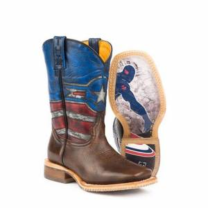 Tin Haul Little Kids Boots - Little Justice with American Hero Sole
