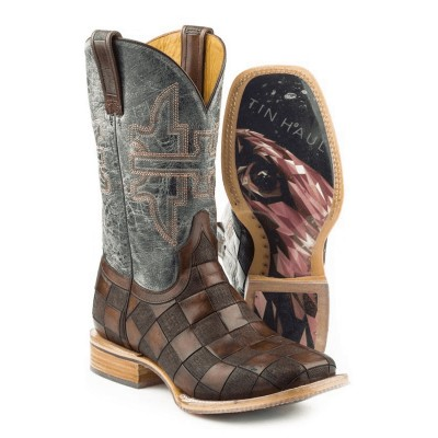 Tin Haul Mens Square Toe Desert Eagle Boots